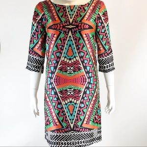 Alexia Admor  Abstract Tribal Dress NWT Medium